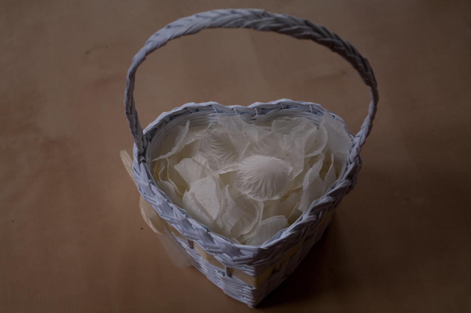 Košíky ve tvaru srdce pro družičky 3 ks - Obrázek č. 1