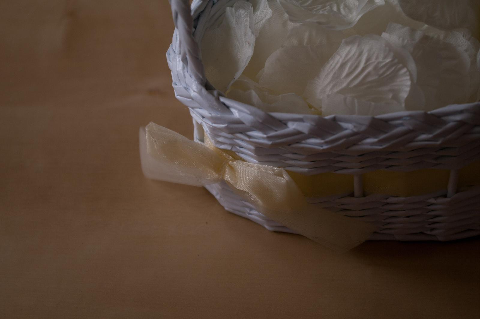Košíky ve tvaru srdce pro družičky 3 ks - Obrázek č. 2