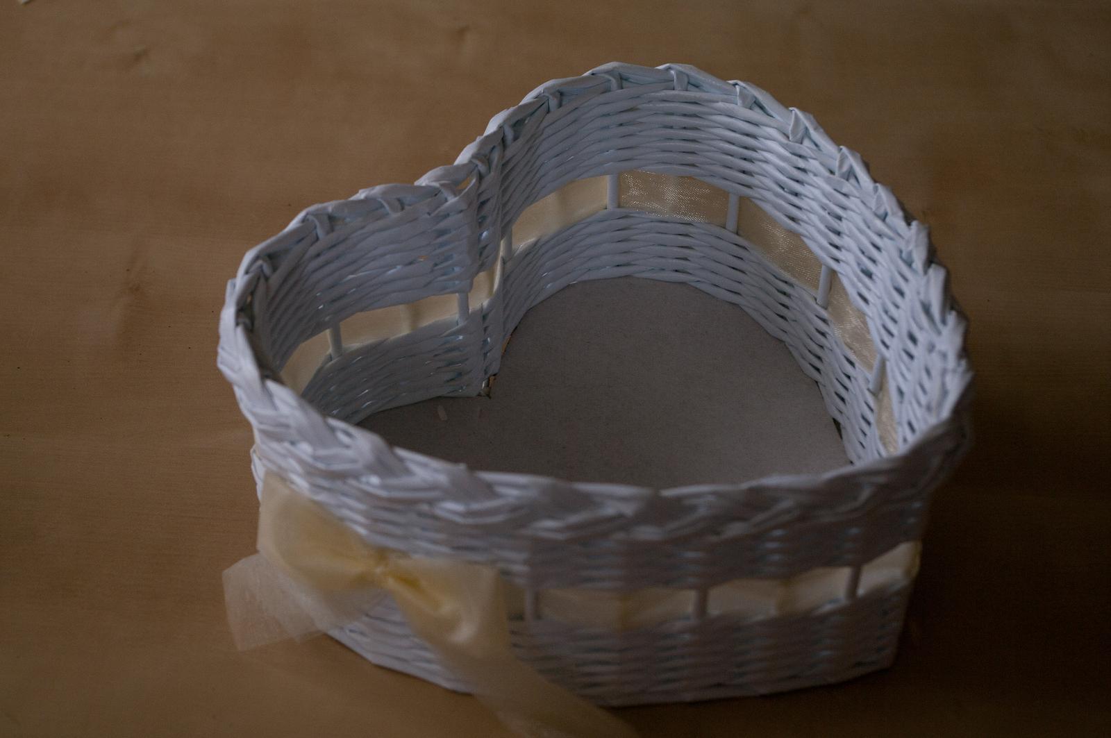 Košíky ve tvaru srdce pro družičky 3 ks - Obrázek č. 3