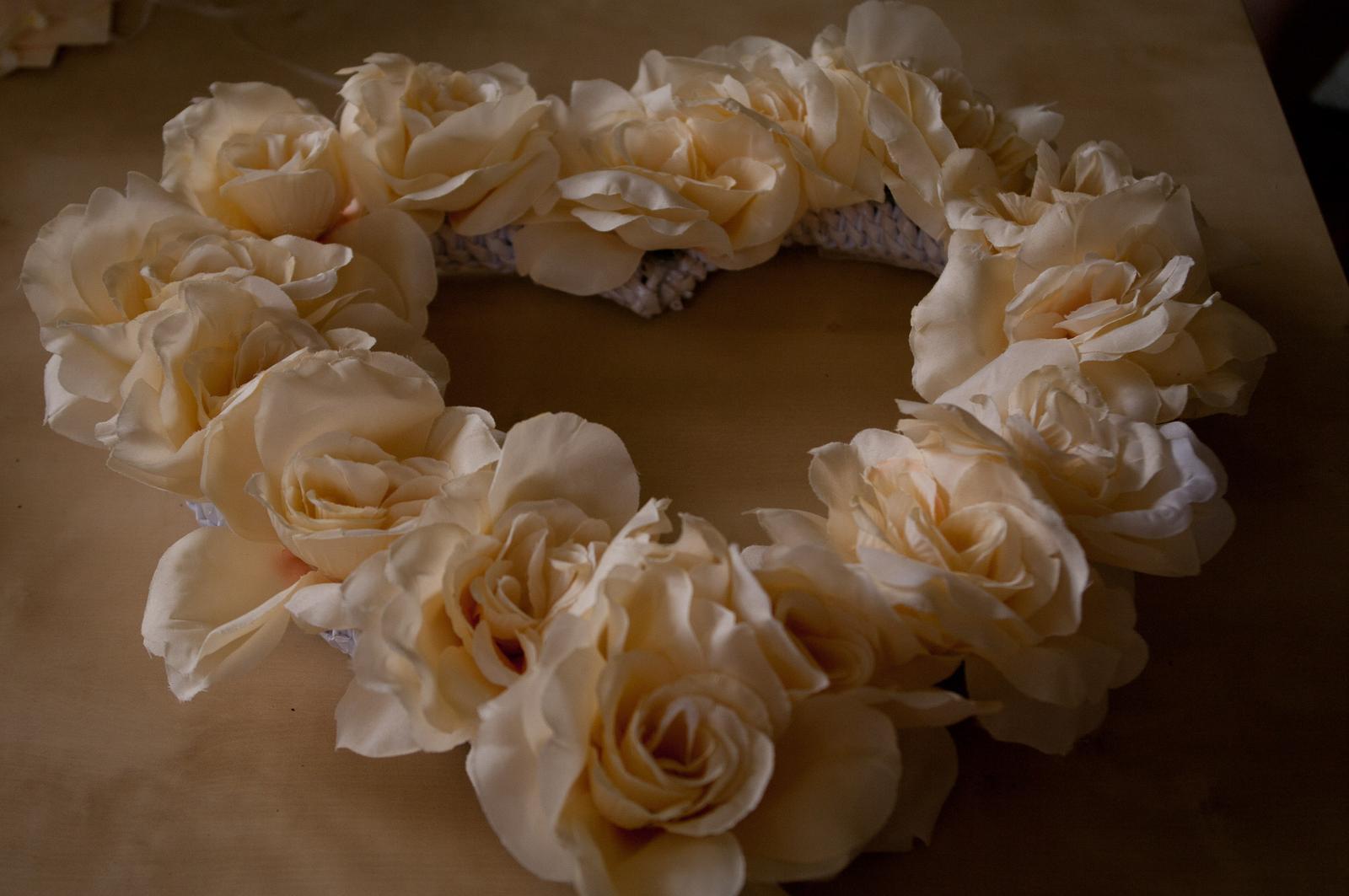 Velké květinové srdce - Obrázek č. 1