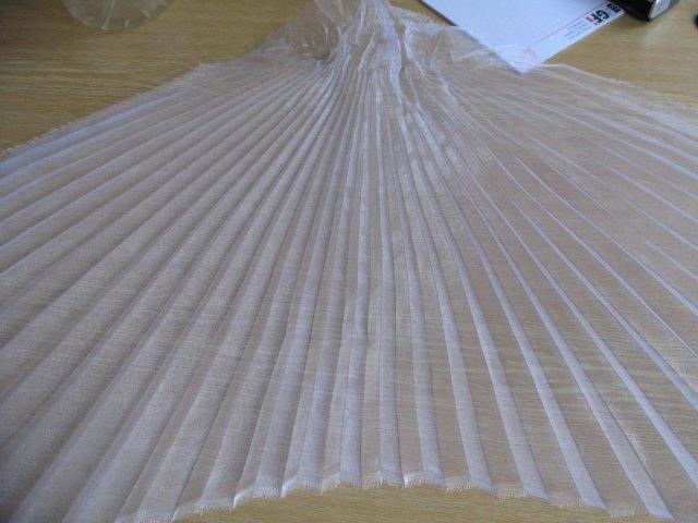 Přípravy - látka naplisovaná na šaty
