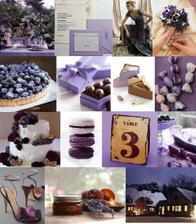 fialová svadba s čučoriedkovým koláčom