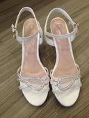 Nenosené svadobné sandálky, 38