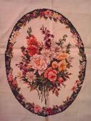 Vyšív.obraz kytica kvetov - 38x28,