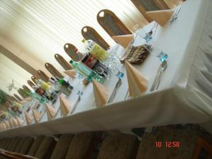 Výzdoba sály druhý deň - hotel Zemplín