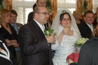Prípitok už na sále a už som vydatá