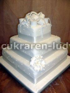 Takto približne to bude vyzerať... - svadobná tortička