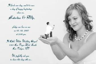 Nase svatebni pozvanka - nase prace - pritel je profi fotograf...