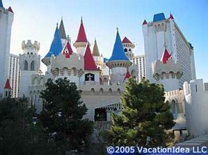 Nas hotel ve Vegas - jako na zamku :)