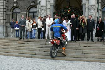 malé překvapení, jeho motorkářské srdce zaplesalo!!!