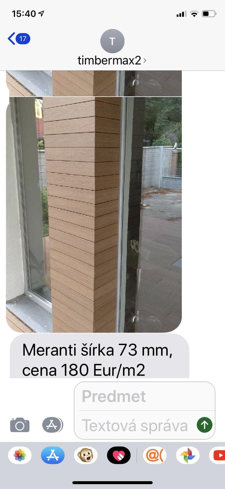 Neviem sa rozhodnúť ktorý si vybrať z timbermaxu okume alebo meranti na obklad fasády prosim povedzte vas názor - Obrázok č. 2