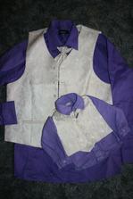 košile pro synka nabarvená,trošinku jiný odstín,ale nevadí..budou krasavci :)