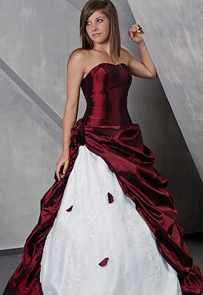 Svatební šaty - růžové i červené až do bordó - Svatební šaty santiago