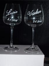 naše svatební sklenice :-)