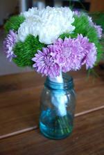 kytky v zavařovačkách na stoly