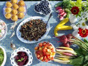 zelenina a ovoce ze zahrady