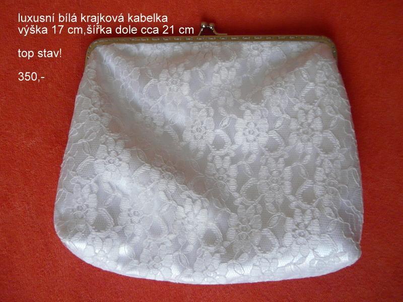 Luxusní bílá krajková kabelka včt. zásilkovny - Obrázek č. 1