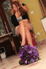 Přípravy nevěsty a moje eustomová květina