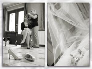 Přípravy nevěsty a moje krásné botičky s naušničkami