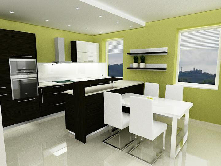 Návrh kuchyne - Návrh č. 2 - a zdá sa že aj konečná verzia :-)