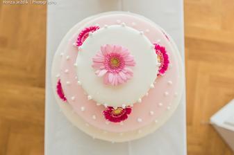 mascarpone s jahodami, čokomascarpone s banány a míša dortík - každé patro jiná chuť....to byl dort s velkým D ! :D