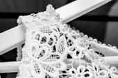 Dievčenské jemné svadobné šaty, 36