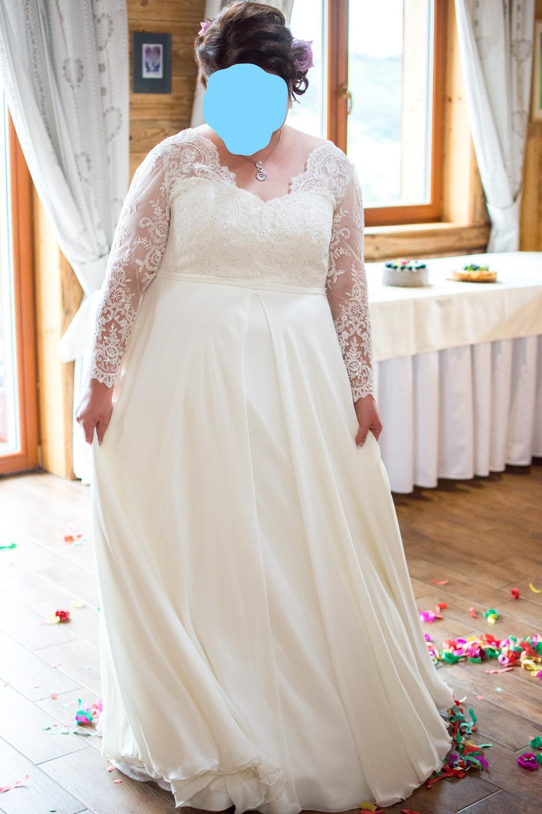 Nádherné svadobné šaty pre moletku - Obrázok č. 1