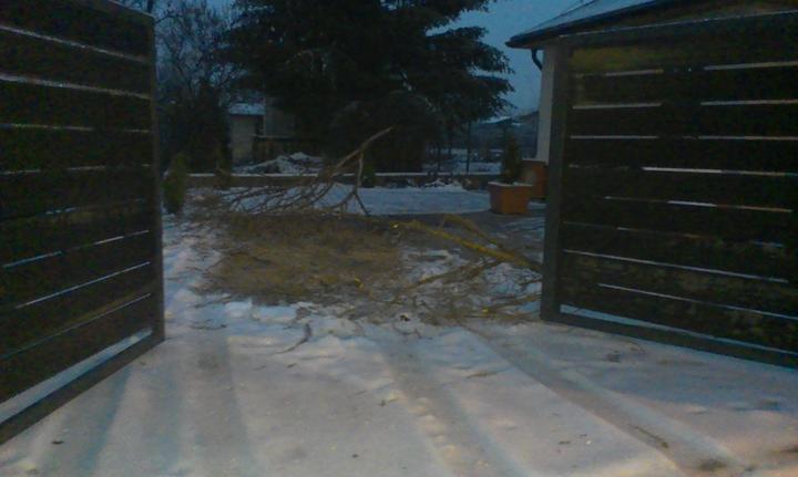 Záhradka - Toto ma čakalo doma po Vianociach. Este ze somt am nestala s autom.