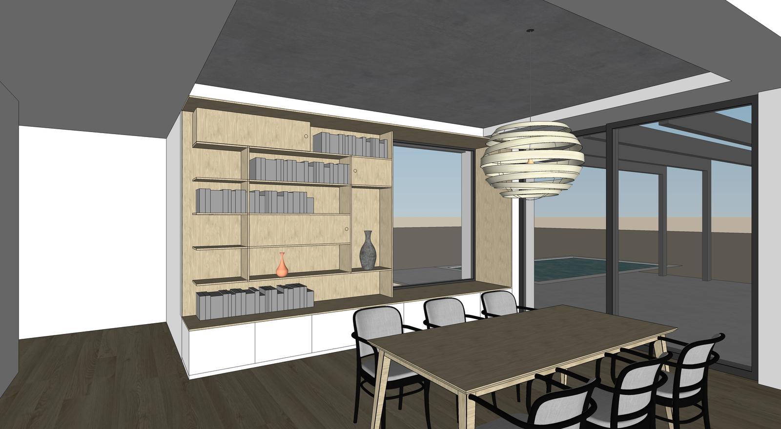 Obývačka- knižnica, sedília a pracovné miesto - Obrázok č. 2