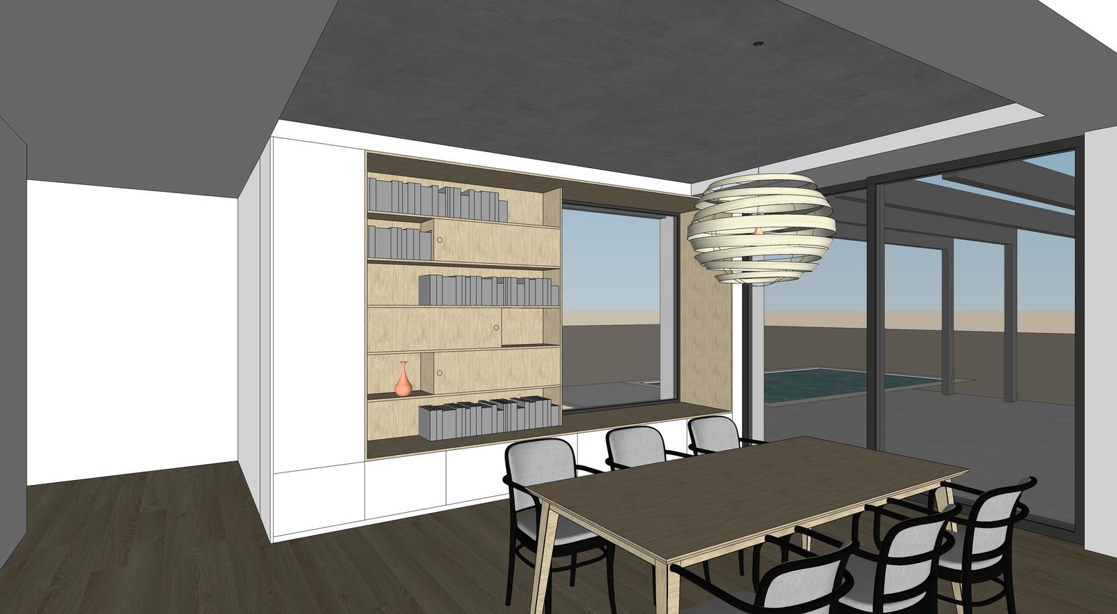 Obývačka- knižnica, sedília a pracovné miesto - Obrázok č. 6