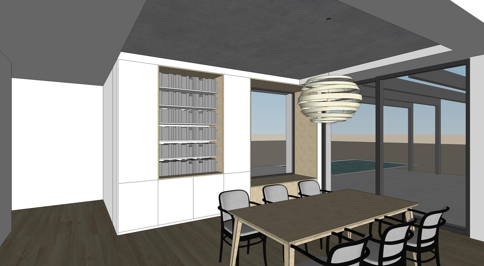 Obývačka- knižnica, sedília a pracovné miesto - Obrázok č. 10