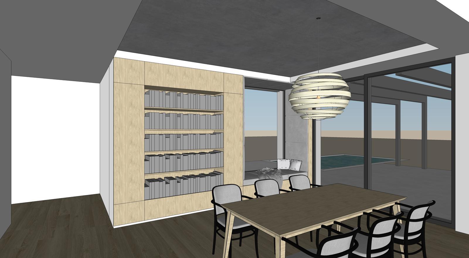 Obývačka- knižnica, sedília a pracovné miesto - Obrázok č. 11