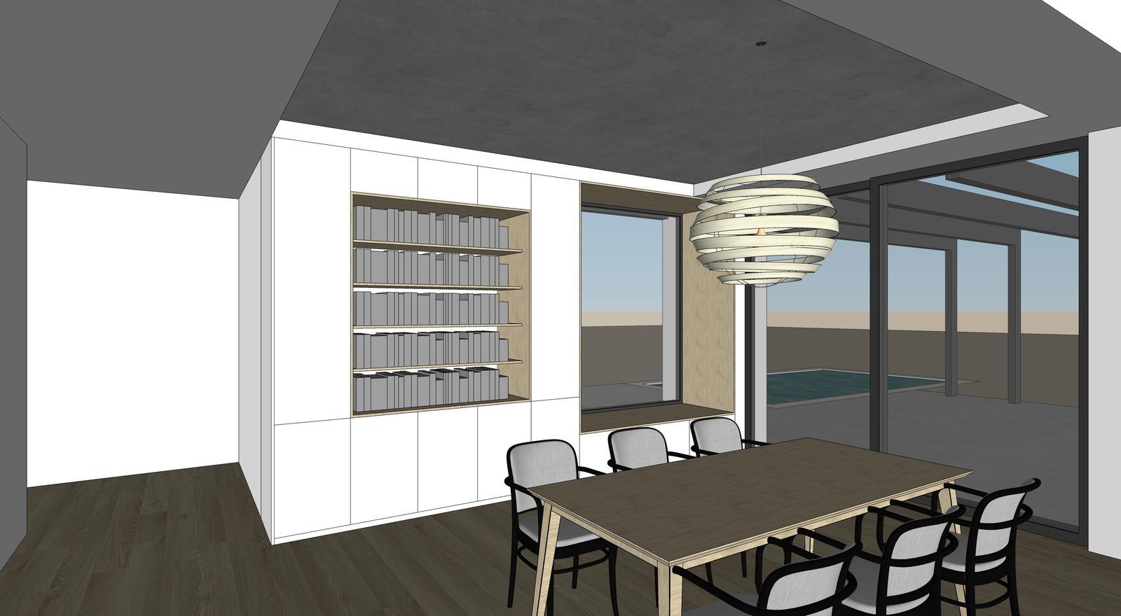 Obývačka- knižnica, sedília a pracovné miesto - Obrázok č. 13