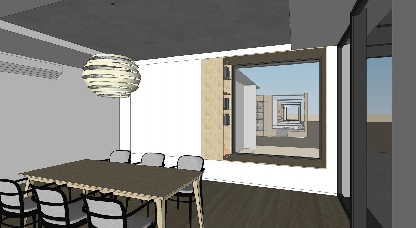 Obývačka- knižnica, sedília a pracovné miesto - Obrázok č. 14