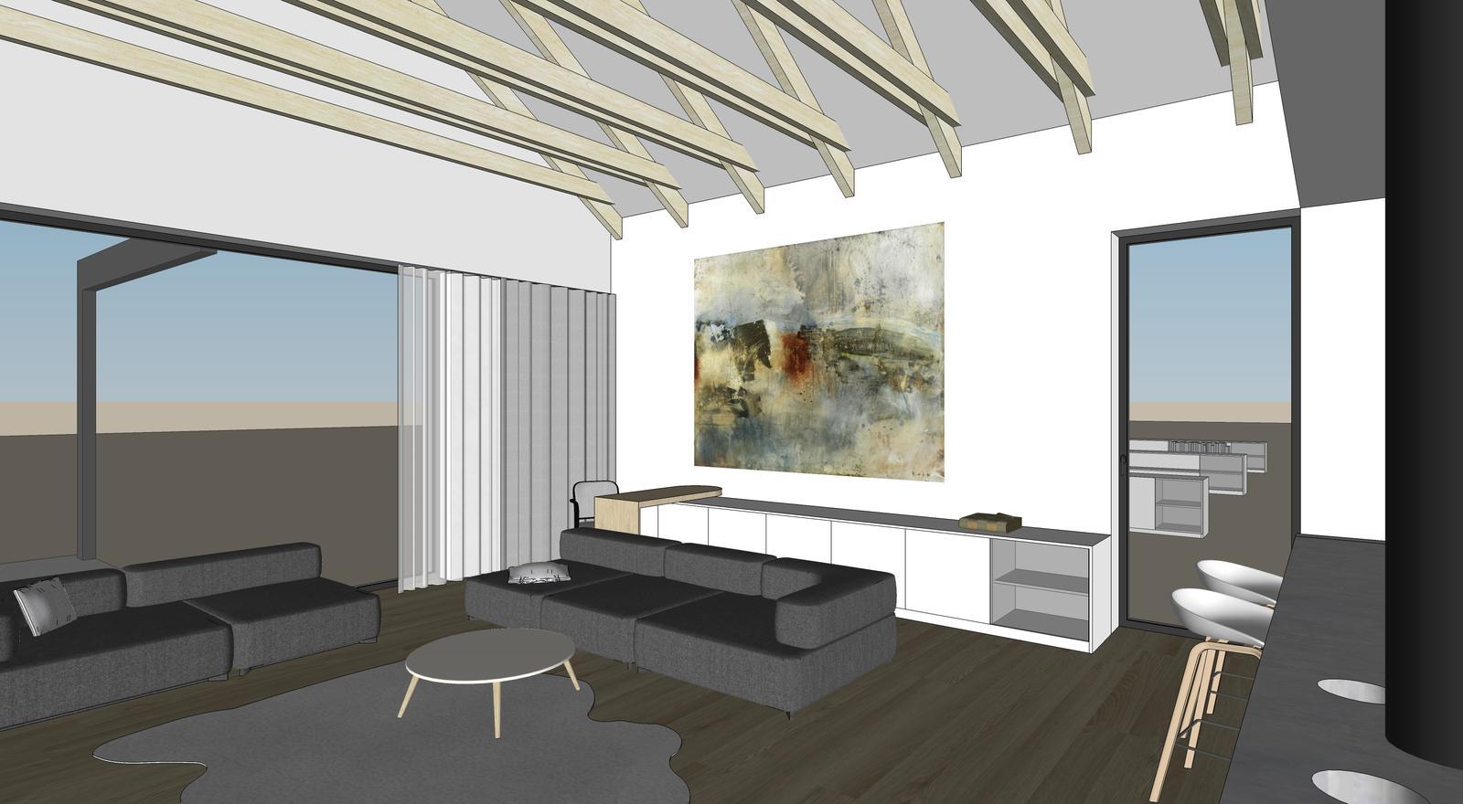 Obývačka- knižnica, sedília a pracovné miesto - Obrázok č. 19