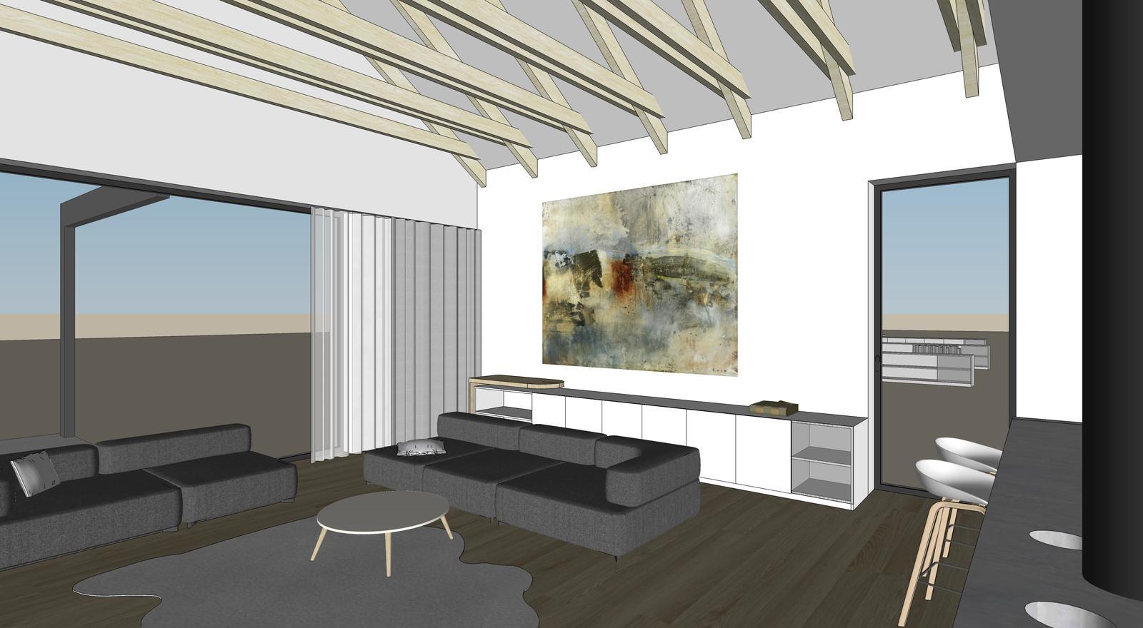 Obývačka- knižnica, sedília a pracovné miesto - Obrázok č. 20