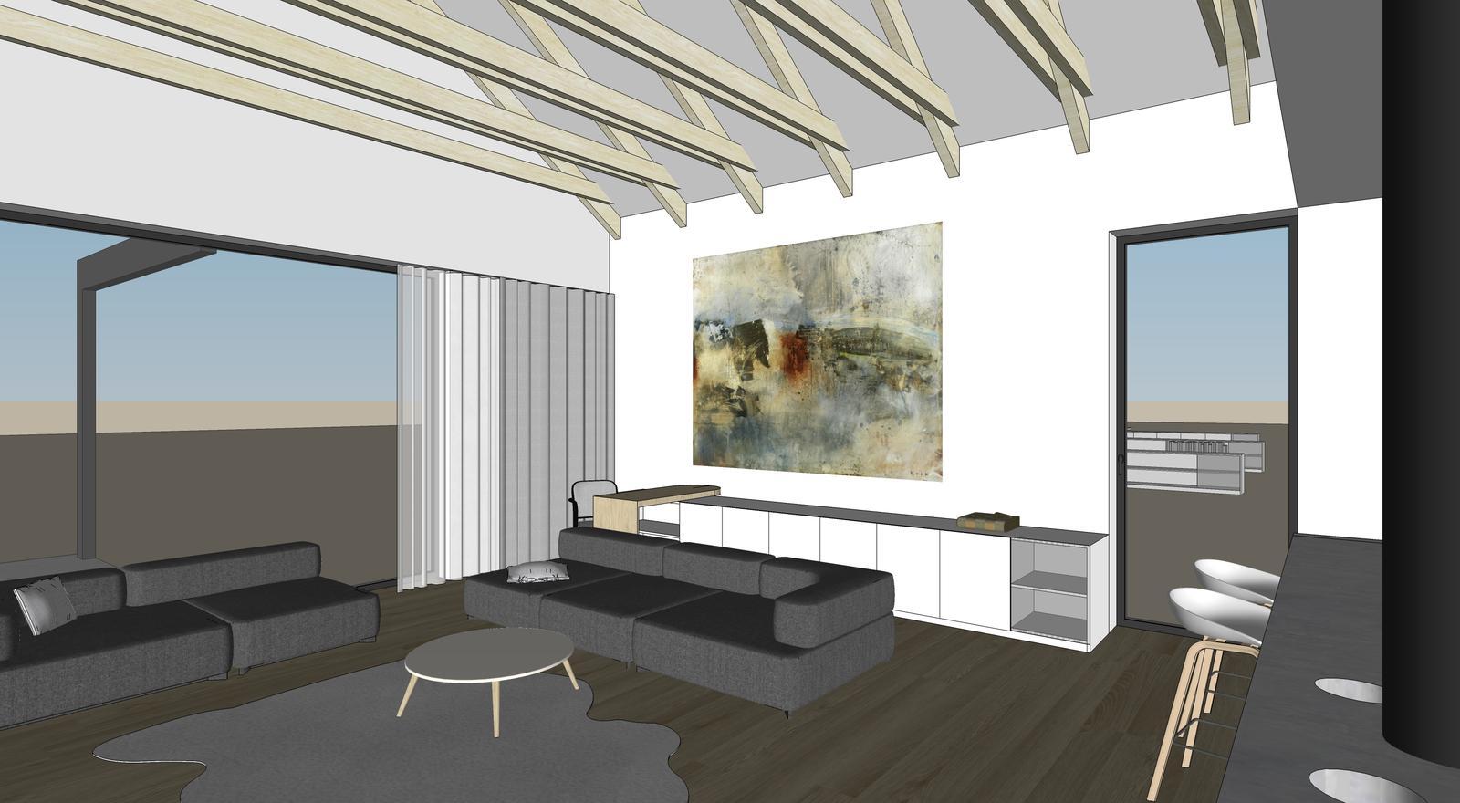 Obývačka- knižnica, sedília a pracovné miesto - Obrázok č. 21
