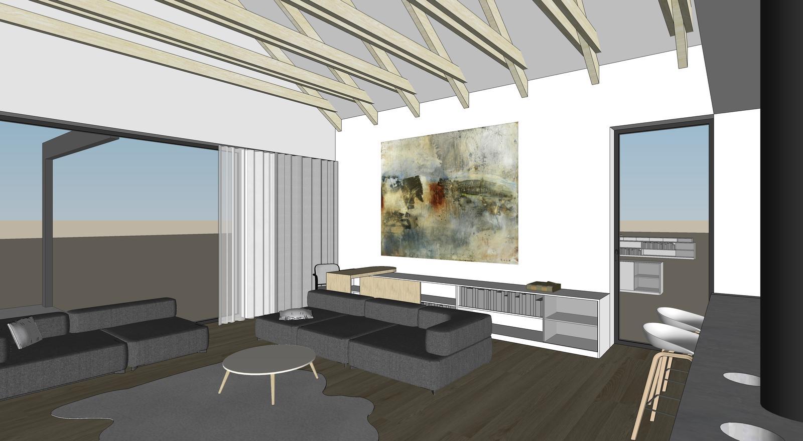 Obývačka- knižnica, sedília a pracovné miesto - Obrázok č. 23