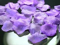 plátky růží fialové na stůl
