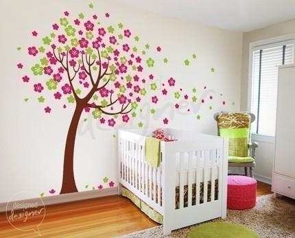 Hrátky s barvou - strom do dětského pokoje