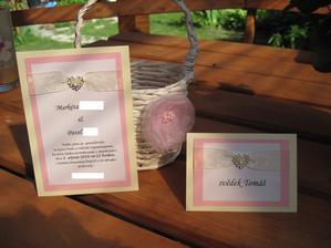 Vlastní výroba - svatební oznámení a jmenovky na stůl