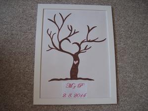 Náš svatební strom, kreslila jsem podle internetu.