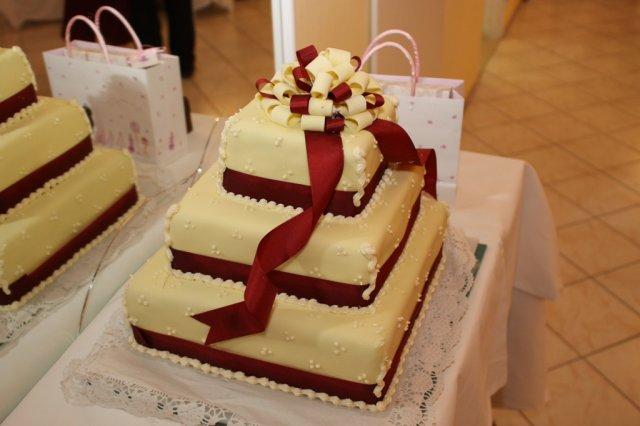 Čo sa do svadobného nevmestilo :) - naša torta, mňam :)