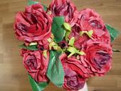 Červené - bordó růže,