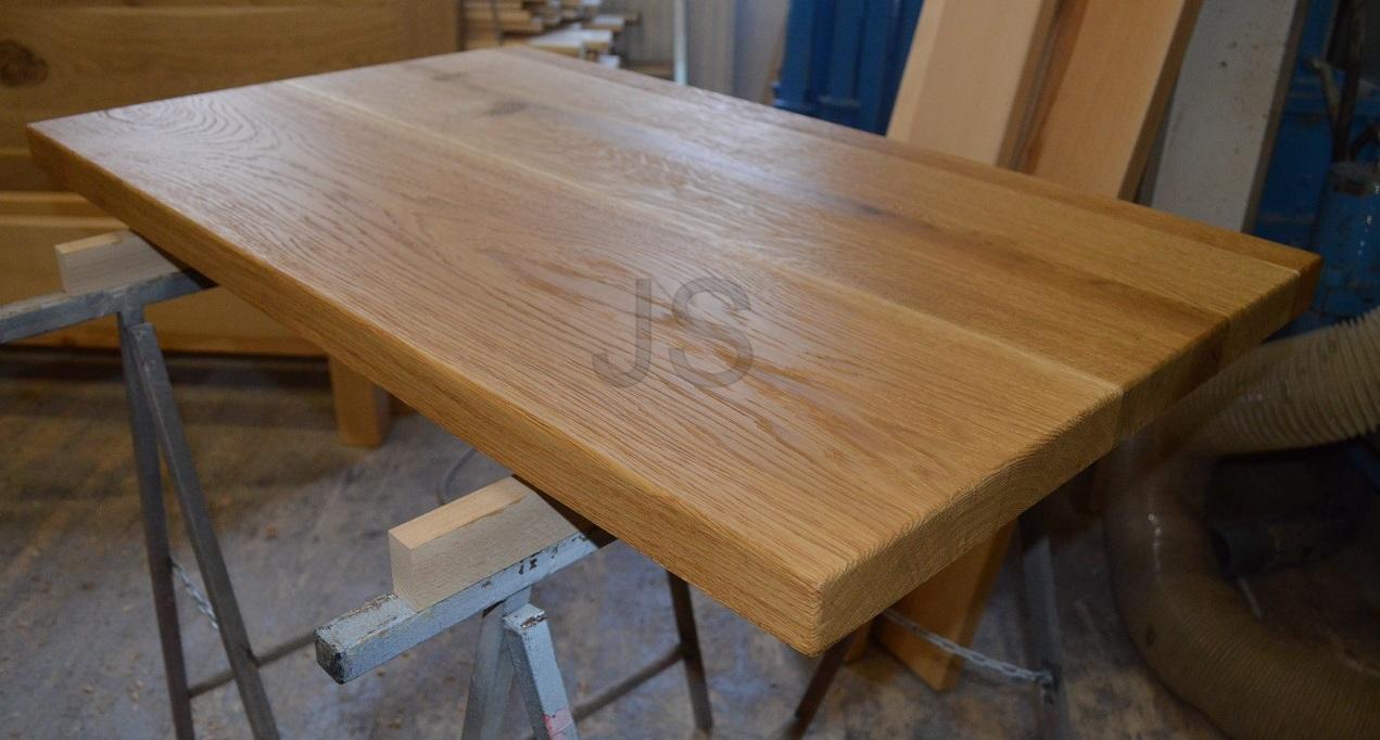 Stolové dosky z masívu - Doska na stolík - 100x60x4 cm - dub prírodný kartáčovaný