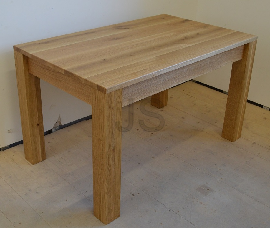 Jedálenské stoly z masívu - Jedálenský stôl 130x80 cm - dub prírodný kartáčovaný