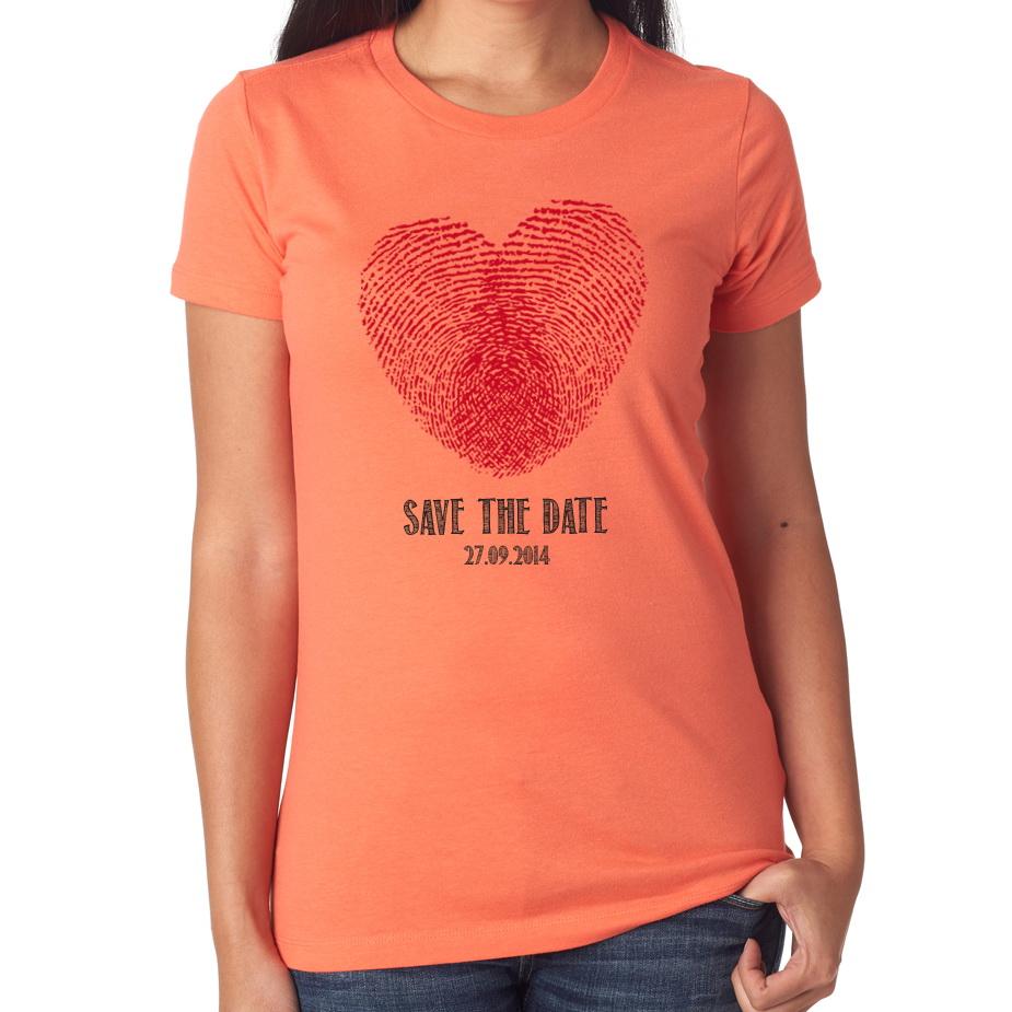 Tričká s motívom podľa Tvojich predstáv - Save the date ♥
