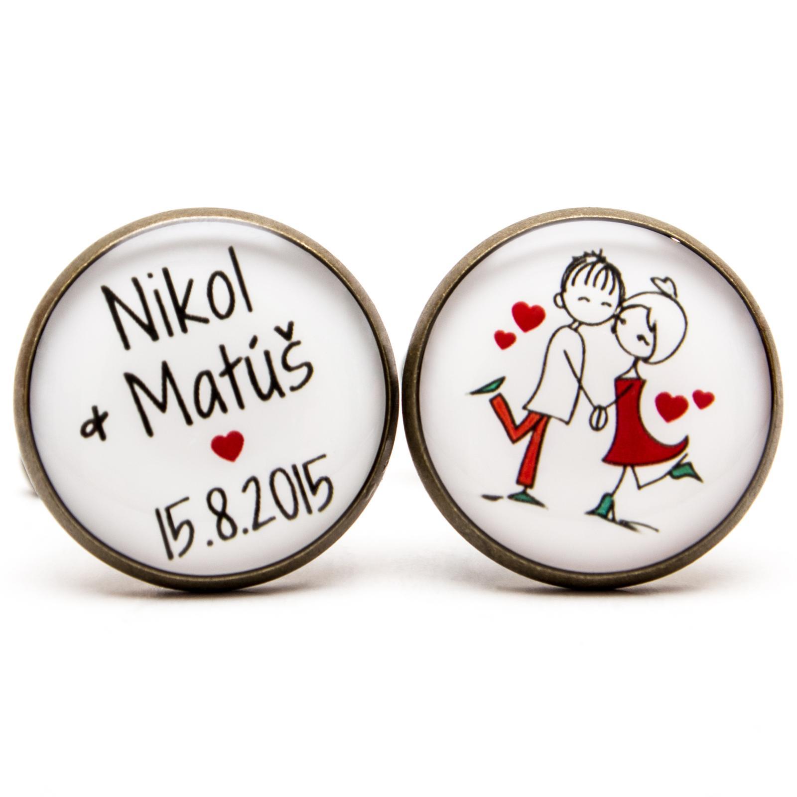 ♥  Manžetové gombíky na mieru - presne podľa Tvojich predstáv ♥ - Svadobné manžetky 016