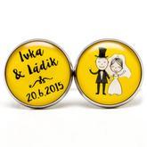 Svadobné manžetky 019 žlté