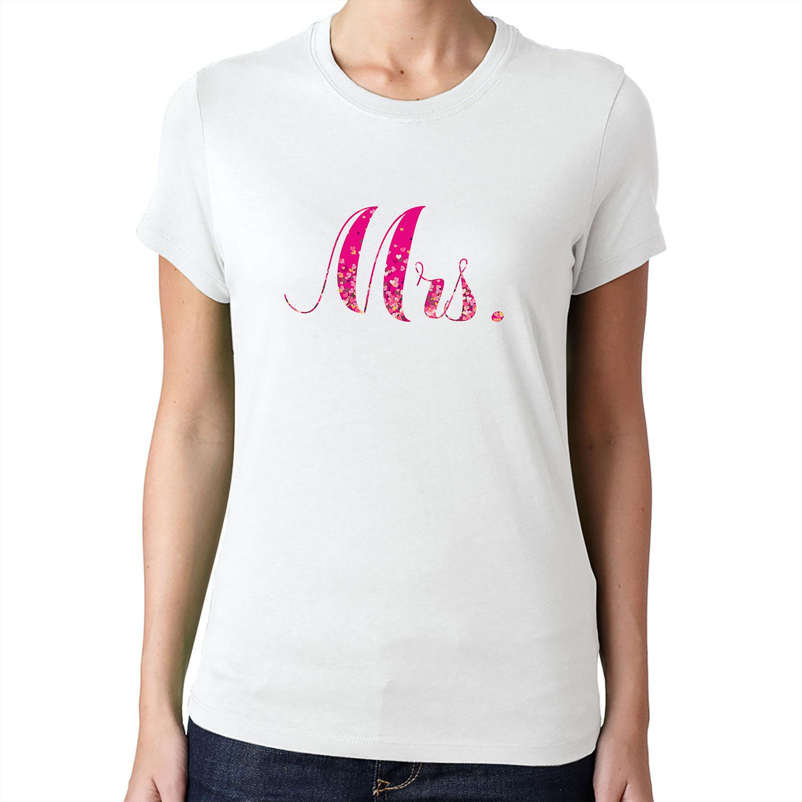 Nevestička a Ženích ♥ - trička na želanie podľa vlastných predstáv - Mrs. 3
